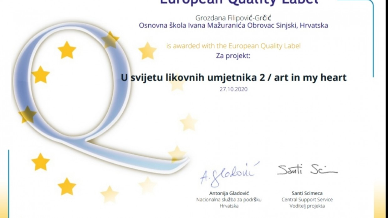 Europska oznaka kvalitete za rad na eTwinning projeku